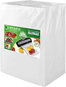 WVacFre 200 Gallon Size 11x16Inch 4mil Food Saver Vacuum Sealer Bags with Commercial Grade,BPA Free,Heavy Duty,Great for Food Vac Storage or Sous Vide Cooking