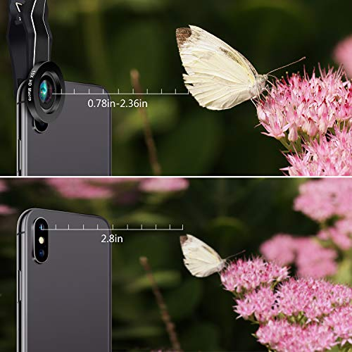 Phone Camera Lens, AiKEGlobal 2 in 1 Macro Lens,Wide Angle Lens, Universal Cell Phone Lens Kit Great Compatible iPhone, Android, iPad and Tablets by AiKEGlobal (Image #3)