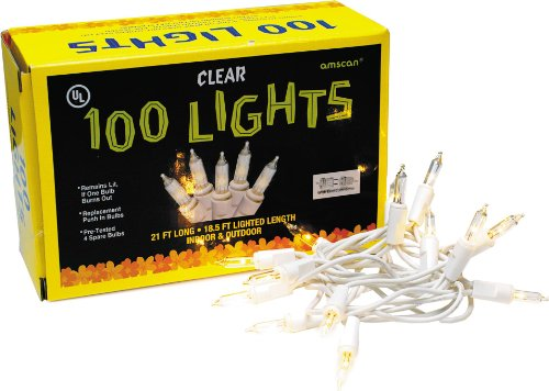 Nordstrom Long Strand (Amscan 100 Count Patio String Lights, 24-Feet, Frosted White)