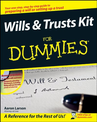 Wills and Trusts Kit For Dummies (Form Rechts)
