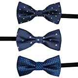 LALUNA BRIDE Baby Boys Pre-tied Adjustable Neck Strap Tie Boys Bow Tie Value Set,Multi - colors Set of 3