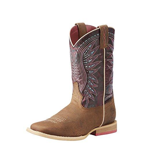 Kids' Vaquera Western Boot, Weathered Brown/Sunset Purple, 2