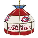 Trademark Gameroom NHL 16 Inch Handmade Tiffany Style Lamp-Montreal Canadiens