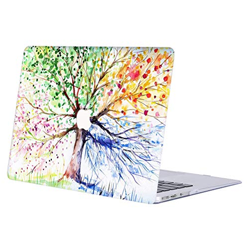 MacBook Pro 13 Case 2018 2017 2016 Release A1989/A1706/A1708, AJYX Creative Design Plastic Hard Case Laptop Cover for MacBook Pro 13 Inch with/Without Touch Bar and Touch ID - JR112 Colored Tree ()