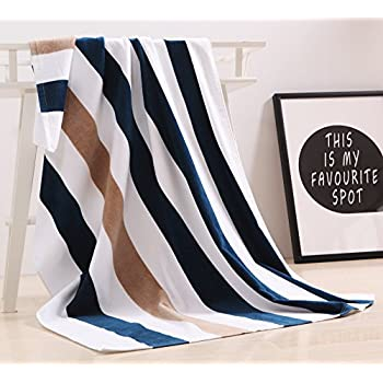 """100% Cotton Oversized Large Beach Towel,Pool Towel (35""""x70"""" )—Soft, Quick Dry, Lightweight, Absorbent, and Plush"""