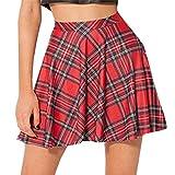Waboats Women's Basic Versatile Strechy Flared Skater Skirt