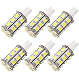 GRV T10 921 194 Wedge 24-5050 SMD LED Bulb lamp Super Bright Cool White AC/DC 12V ~28V Pack of 6