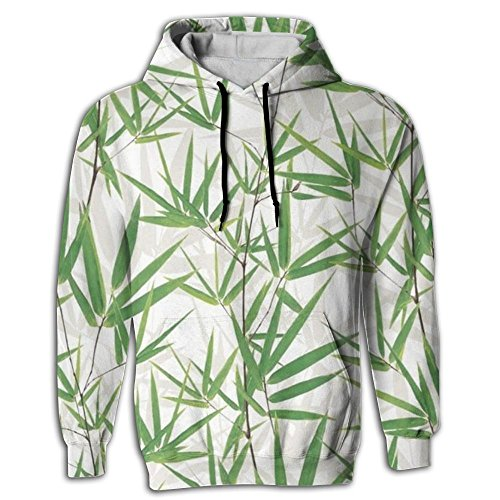 Jardin Coat (Maiweiyile Bamboo Men's Yoga Hoodie Sweat Shirt Pocket In Front Cool Hipster Tops Shirt Coat For Pullover Hoodie With Cap)
