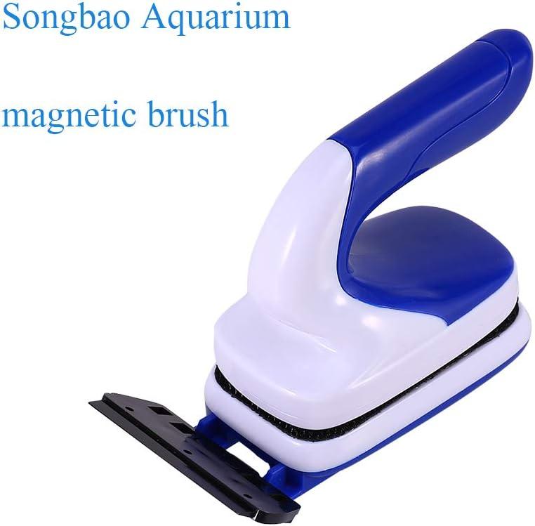 Vetro Basta Trascinare Spazzola Magnetica Galleggiante per Acquario Acquario Raschietto per Pulizia Facile da Pulire Acquario Leyeet alghe