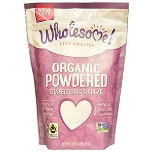 Wholesome Sweeteners, Inc., Organic Powdered Confectioners Sugar, 16 oz (454 g) - 2pcs