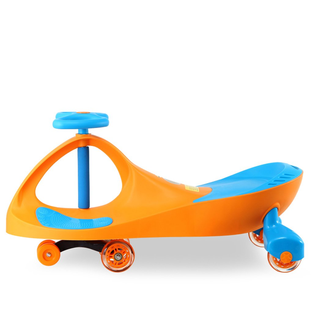 Xiao ping Ride on Toy, Ride on Wiggle Car by-Ride en Toys for Boys and Girls, 1Year Old and Up, Naranja (sin Música/Música) (Color : Yellow Ordinary)