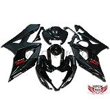 VITCIK (Fairing Kits Fit for Suzuki GSXR1000 K5 2005 2006 GSXR 1000 GSX R1000 K5 05 06) Plastic ABS Injection Mold Complete Motorcycle Body Aftermarket Bodywork Frame (Black) A030