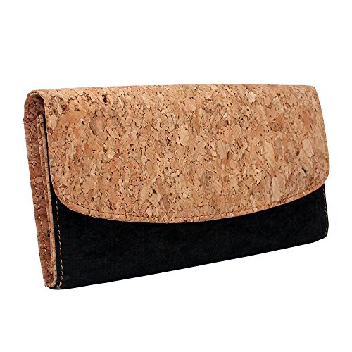 Boshiho Women Cork Wallet Slim Design Credit Card Holder Clutch Purse Vegan Gift