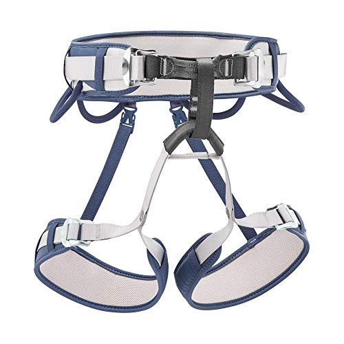 PETZL - CORAX, Versatile and Adjustable Harness, Size 2, Blue Jean