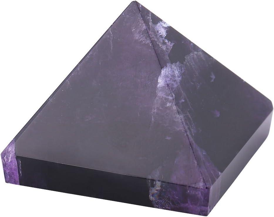 regalo color morado oscuro Figuras de amatista en forma de pir/ámide de cristal natural tallado con piedras preciosas para decoraci/ón del hogar muebles oficina creativo