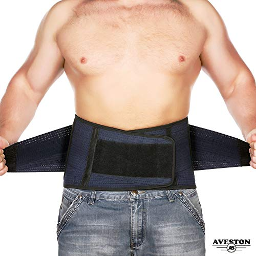 Back Support Lower Back Brace Provides Back Pain Relief - Breathable Lumbar Support Belt for Men and Women Keeps Your Spine Straight and Safe - X-Large Size 46
