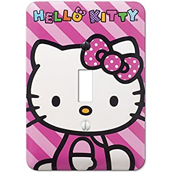 duplex wall outlet plate decor wallplate hello kitty pink bow rh amazon com