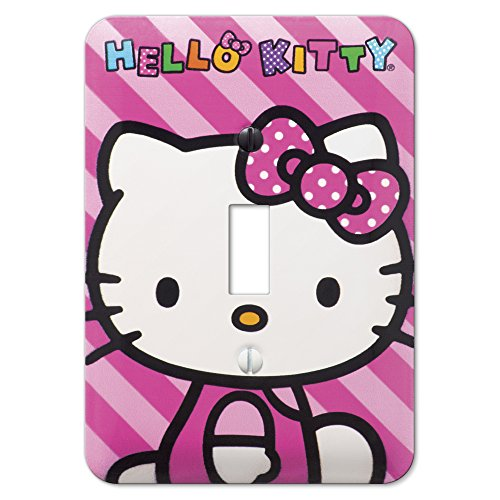 Hello Kitty Room Accessories - Amerelle HK1502T Hello Kitty Steel Wallplate, Toggle