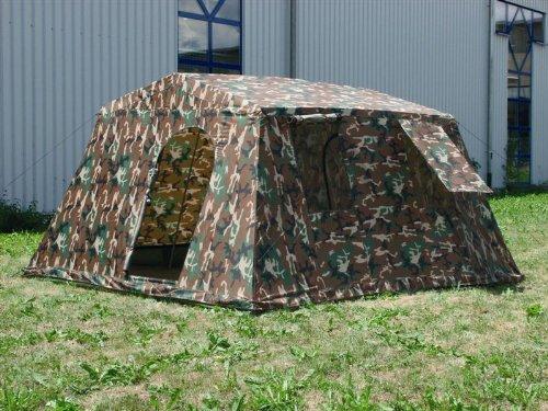 🥇 Mil-Tec Woodland – Protector de Vientos de Acampada Talla 340 x 310 x 180 cm