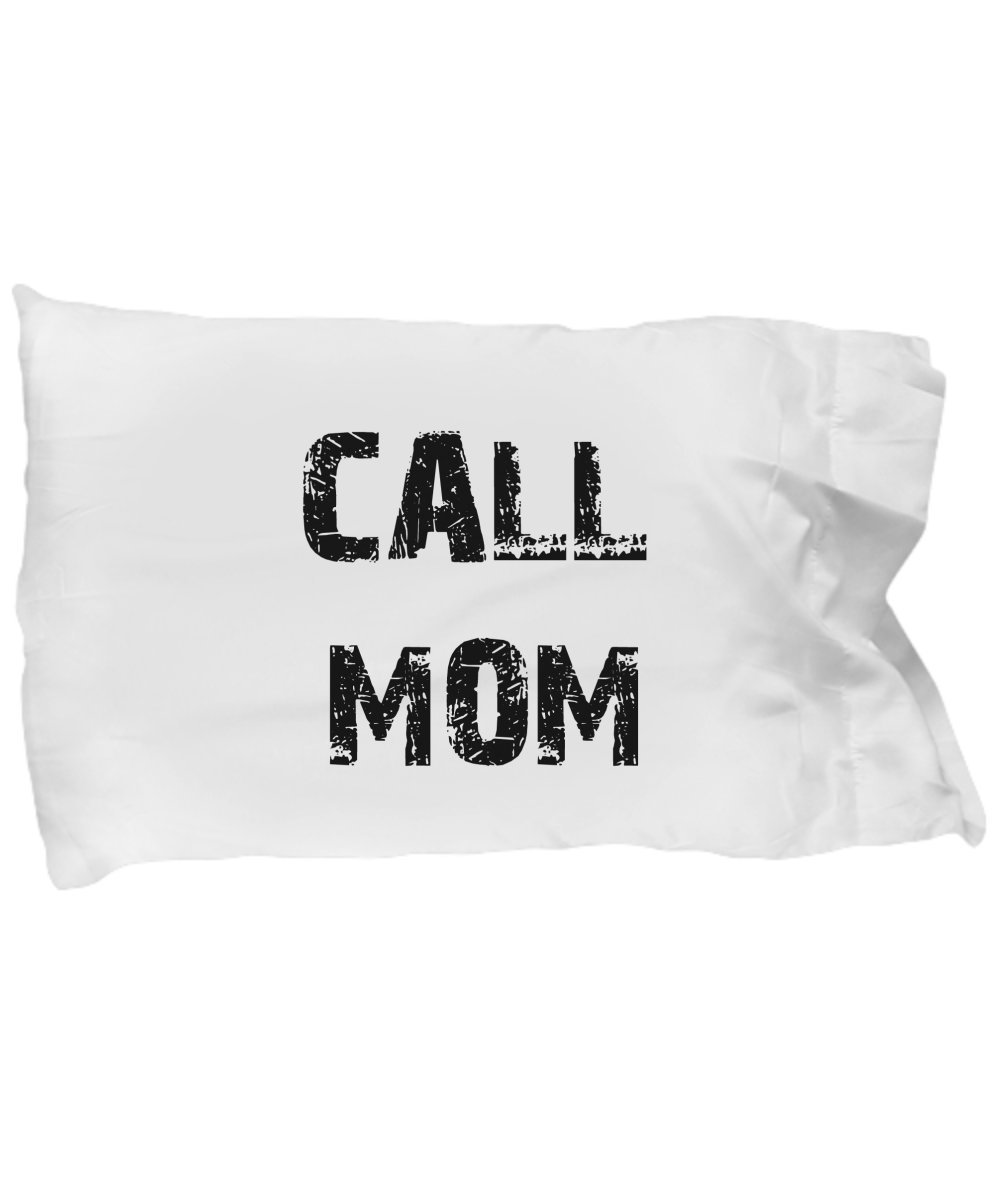 Oh, John Call Mom Pillow Case BLACK Graduation Gifts for Dorm Room Bedding for Girls or Boys Pillowcase Fits Standard or Queen Size Pillow College Dor