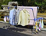 Hans&Alice Commercial Grade Double Rail Laundry Drying Rack with Clips and Shoe Dryer Racks