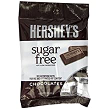 Hershey's Sugar Free Chocolate Candy, 3-Ounce Bag (Pack of 3)