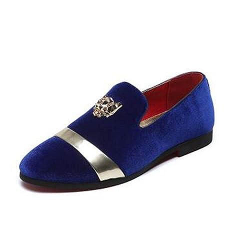Zapatos de Boda para Hombres Mocasines Hechos a Mano Hombres Vestido Pisos: Amazon.es: Zapatos y complementos