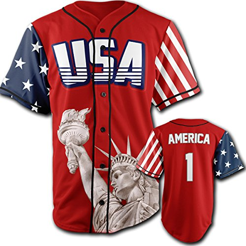 Greater Half USA Red America #1 4XL (Clothing America)
