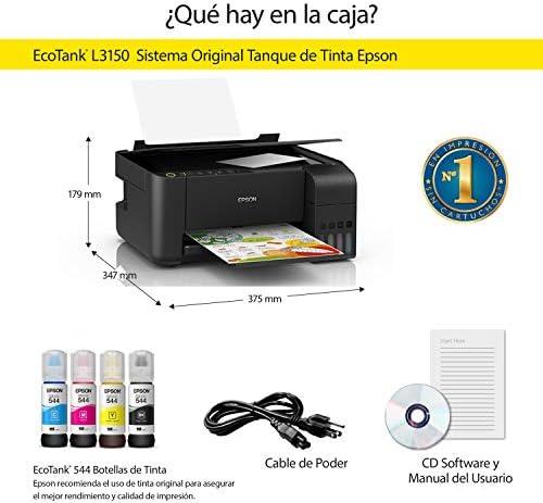 Epson Multifuncional Ecotank L3150, tanque de tinta a color para Hogar,  Wi-Fi Direct : Amazon.com.mx: Electrónicos