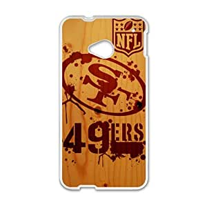 Happy NFL San Francisco 49ers Logo Cell Phone Case for HTC One M7