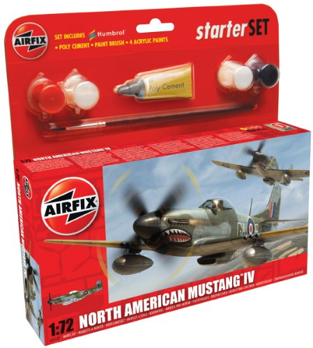 Airfix A55107 1:72 Scale North American Mustang IV Starter - 1 Set Starter