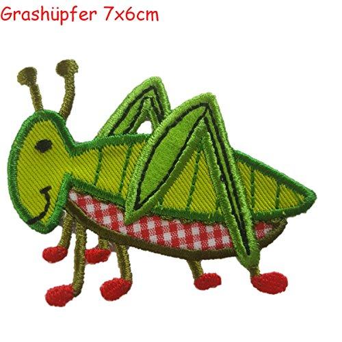2 iron-on appliques set - Grasshopper 7X6Cm and
