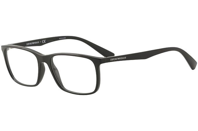 Emporio Armani 0EA3116, Monturas de Gafas para Hombre, Black, 55