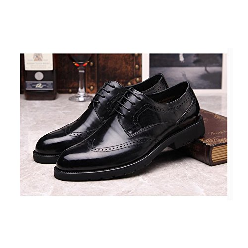 Scarpe Di Vera Pelle Mens Primavera Estate Nero Rosso-marrone Alla Moda Low Top Casual Formale Derby Oxford Lace Mocassini Bullock Scarpe B