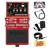 Boss RC-3 Loop Station Guitar Effects Pedal DLX Bundle