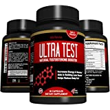 Ultra Test Natural Testosterone Booster For Men and Women, Sexual Health Supplements, Workout Pill for Lean Muscle and Fast Fat Burning (90 Capsules, 30 Day Supply)