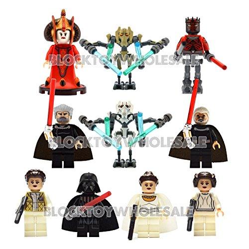gonggamtop 10 lot New Minifigs set Star Wars building blocks toy Amidala Darth Vader (Star Wars Dropship)