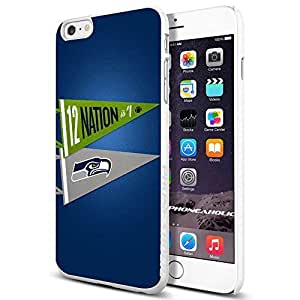 diy zhengNFL Seattel Seahawks , , Cool Ipod Touch 5 5th Smartphone Case Cover Collector iphone TPU Rubber Case White [By PhoneAholic]
