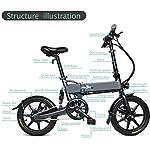 Drohneks-Bici-elettrica-Pieghevole-Ebike-con-Motore-da-250-W-Luce-Anteriore-a-LED-Pneumatico-in-Gomma-Gonfiabile-da-16-Pollici-carico-utile-120-kg-per-Adulti-78-Ah