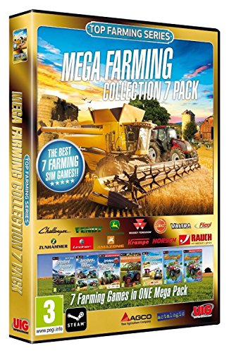 Mega Farming Simulator Collection 7 Video Game-Pack [PC Computer DVD-Rom]