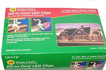 Amazon.com: LED Shingle & Gutter Outdoor Christmas Light Clips ...