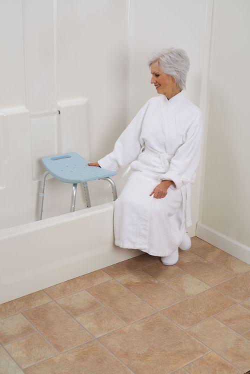 Amazon Com Medline Bath Bench Without Back Microban