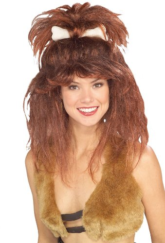 Rubie's Cavewoman with Bone Wig, Brown, One Size]()