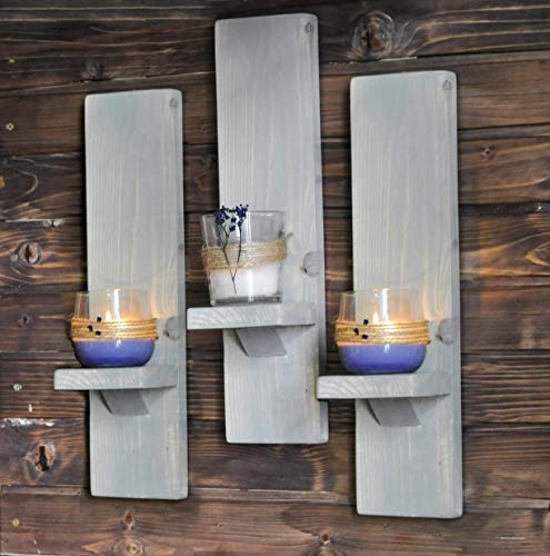 Amazon Com Wall Sconces Or Candle Holders Distressed Grey