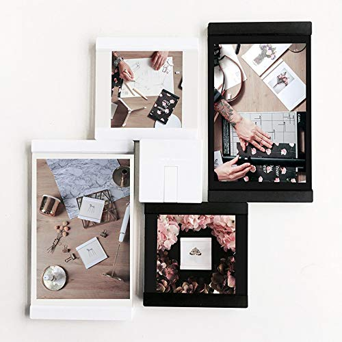 2/4x4+2 4x6 Wooden Picture Frame Set for Decoration Wall Photo Black Home Accessories 4Pcs /Set