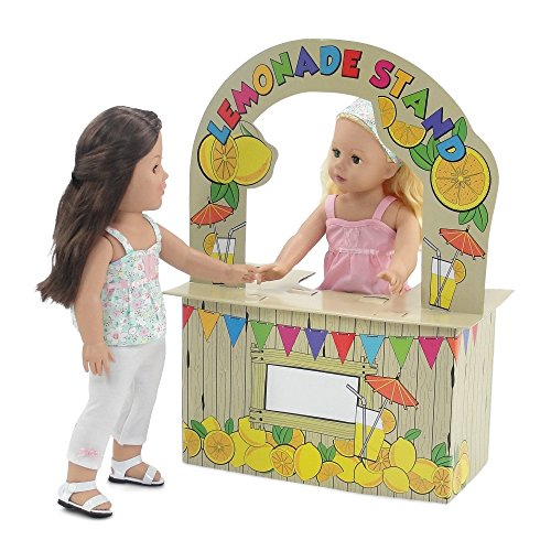 ries | Incredible Doll Play Lemonade Stand with Brightly Colored Graphics | Fits American Girl Dolls ()