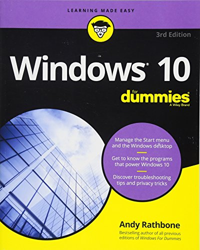 Windows 10 For Dummies (For Dummies (Computer/Tech)) cover