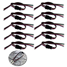 ZITRADES 15cm 4pins Male to Female extension wire for 5050 3528SMD RGB led flexible strip 10Pair/Lot