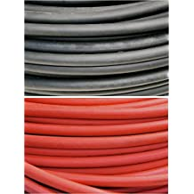 4/0 AWG 4/0 Gauge 50 Feet Black + 50 Feet Red (100 ft) Red and Black Welding Cable Battery Cable Copper Flexible Wire outdoor use