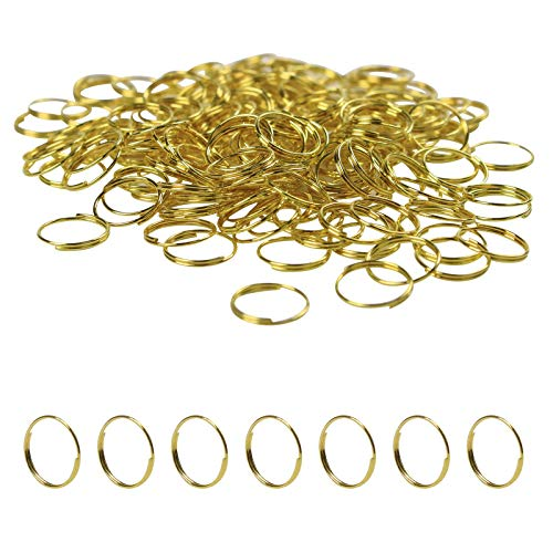 BIHRTC 500Pcs Metal Split Rings, Crystal Chandeliers Connectors Part for Chandelier, Curtain,Suncatchers, Crystal Garland,Necklaces, Earrings, Other Jewelry Making and Craft Ideas(Gold,11mm)